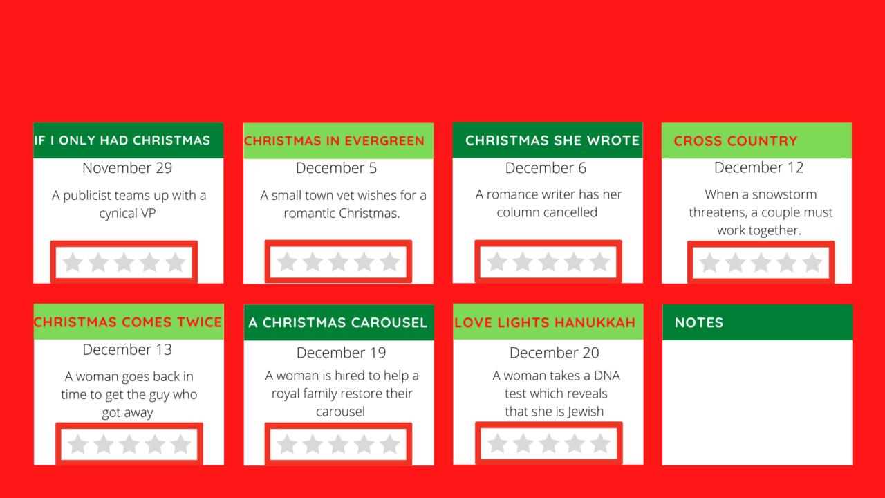 hallmark christmas movie checklist 2020  jen ryland reviews